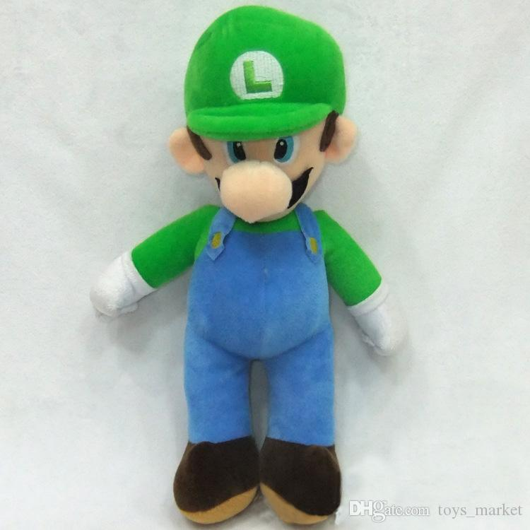 10'' Super Mario Bros Stand MARIO & LUIGI Plush Doll Stuffed Toy And Retail For Kid Best Gift