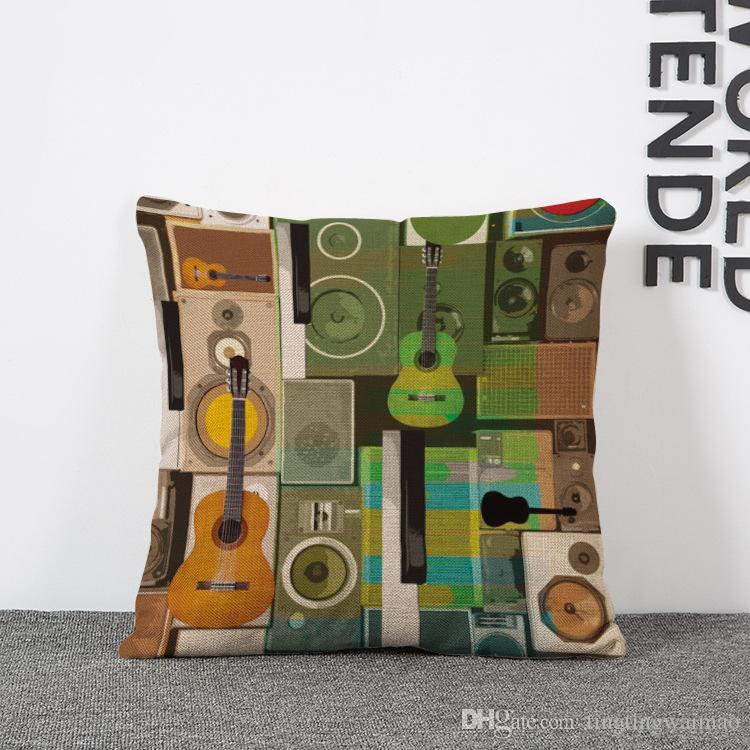 Nordische abstrakte bunte Mode Plaid Leinen Kissenbezug Kissen Lendenkissen Kissenbezug
