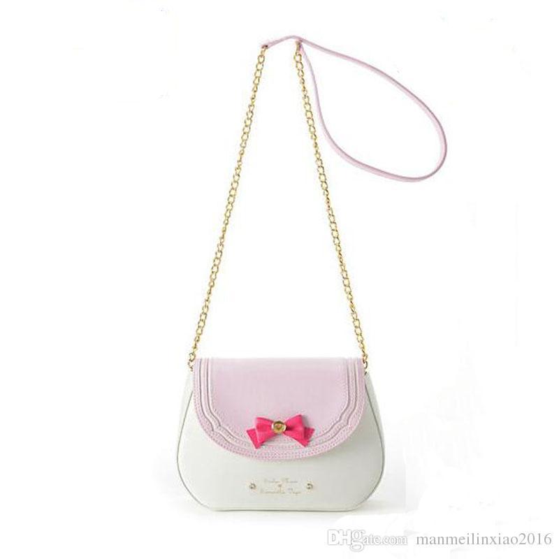 Cute Bag Anime Sailor Moon Samantha Vega Luna Cosplay Shoulder Bag Costume Accessories Leather Chain messenger