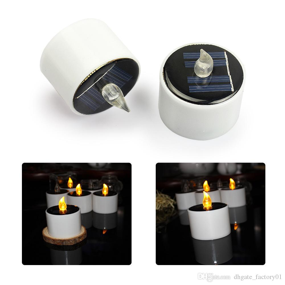 Solar Power Led Candle Lights Tea Light Candles Home Decoartion And ...
