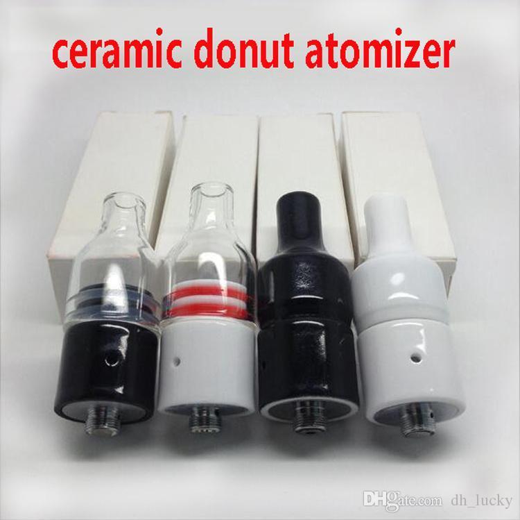 전체 세라믹 유리 왁스 분무기 도넛 형 위클없는 코일 초본 파이렉스 기화기 22mm 분무기 510 ecigs vape pen
