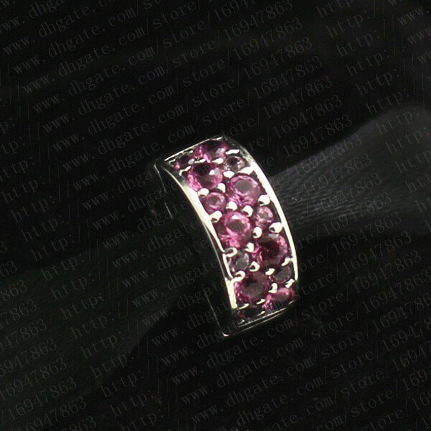 2016 New Spring S925 Sterling Silver Shining Elegance Clip Charm Bead con Honeysuckle Rosa Cubic Zirconia Adatto Braccialetti europei gioielli