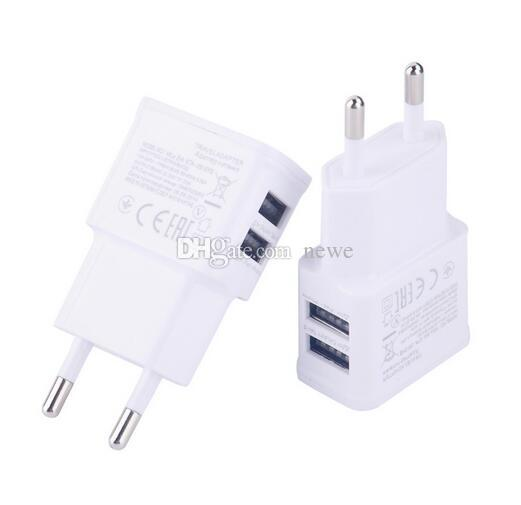Dual EU US 5V 2A plug USB Wall Charger Adapter For USB powered device,cellphone smartphone,PDA,MP3,MP4,Tablet PC
