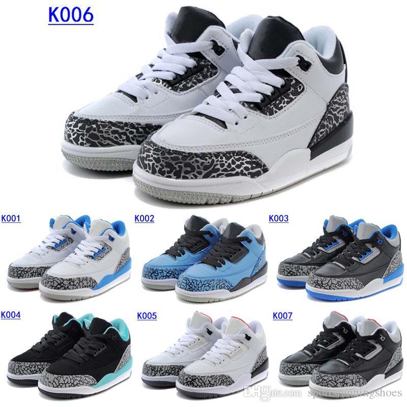 Compre Zapatos De Baloncesto De Los Niños Retro 3 Muchos Colorea Los ...
