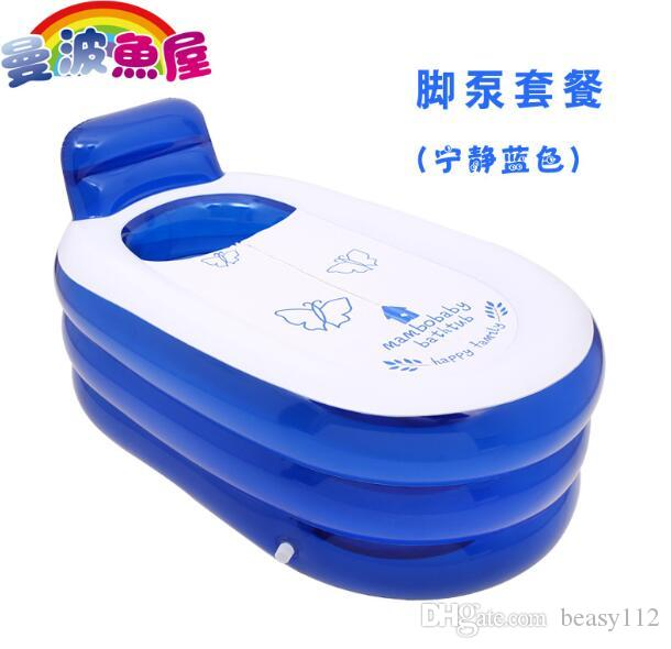 2017 Portable Bath Adult Bathtub Plastic Inflatable Bath Tub Adults Folding  Inflavel Inflatable Spa 150*85*75cm Foot Air Pump From Beasy112, ...