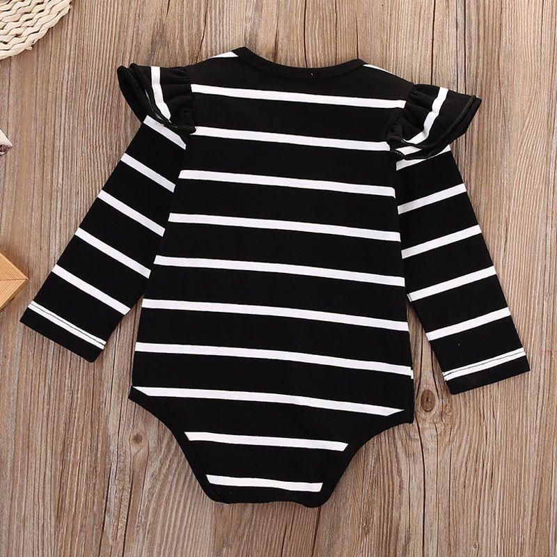 2016 Newborn Infant Baby Boy Girls Bodysuit striped white black girls Romper fashion long sleeve Jumpsuit children Clothes top Outfits 0-18M