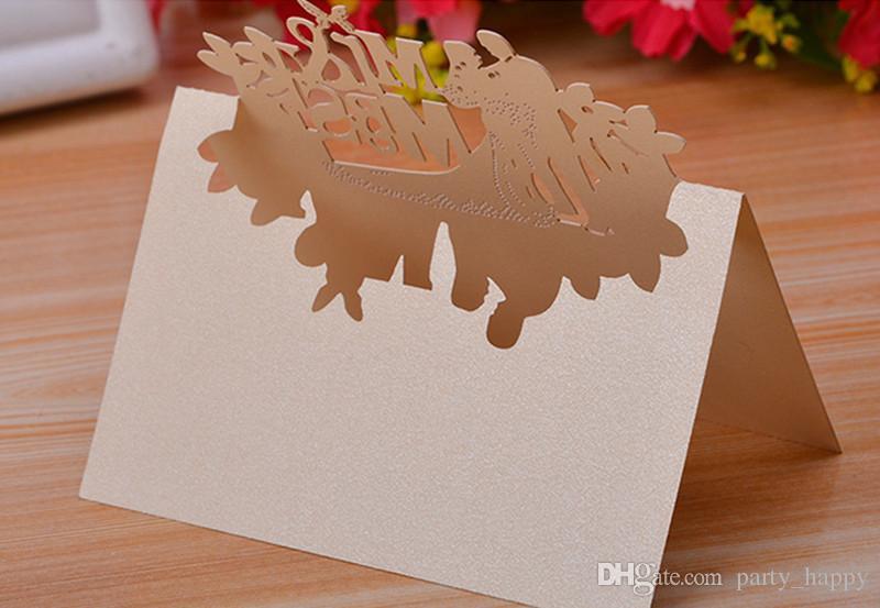 Han Baskı Kağıt Oyma Düğün Yaratıcı Düğün Öğretmenler Presents Stereo Düğün Davetiyesi Kartı DIY Oyma Düğün Süslemeleri