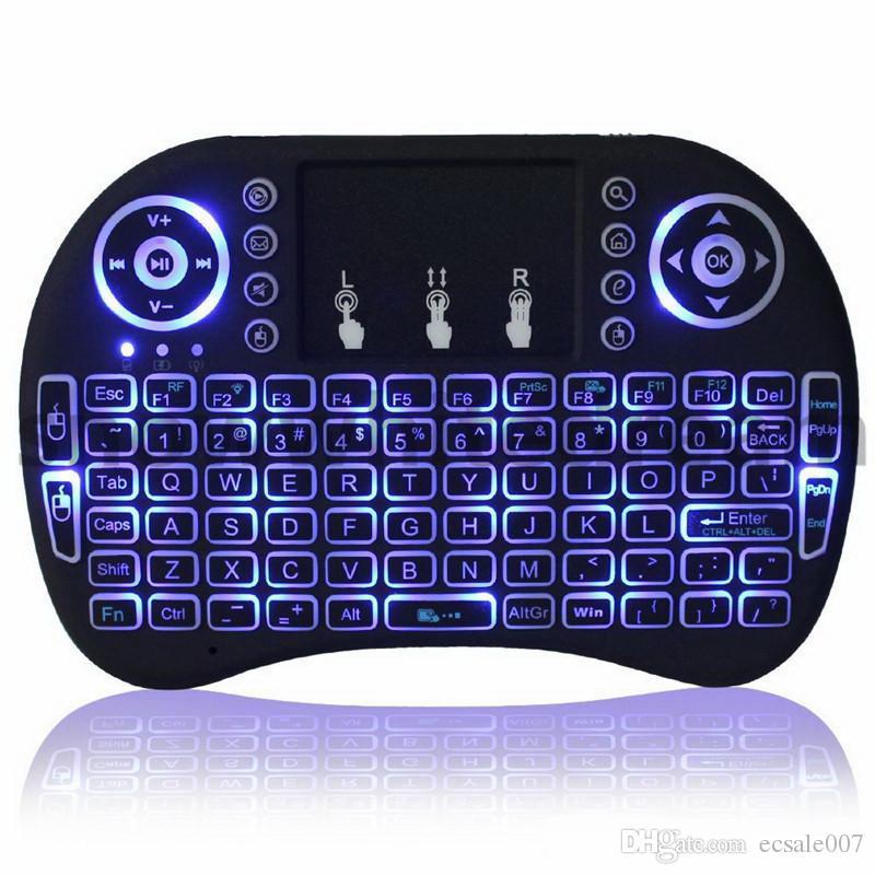 Rii I8 스마트 플라이 에어 마우스 원격 백라이트 2.4GHz 무선 블루투스 키보드 원격 제어 터치 패드 S905X S912 TV 안드로이드 박스 X96 T95