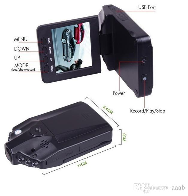 Car DVR camera recorder H98 6 IR LED mount and 90 degree view angle ,270 degree screen rotated Drop Shipping H198
