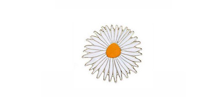 Emaye Pin Metal Balon Mektup Güneşli Rozet Krizantem Çiçek Bang Evrensel Broş Kompakt Yüksek Kalite 1 2yxa B R