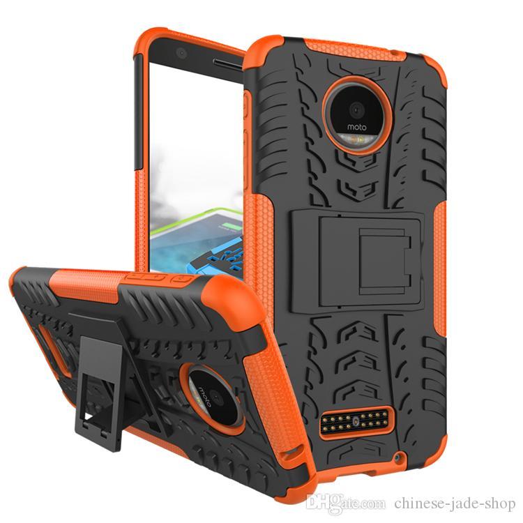 Hybride Kickstand Impact Rugged Heavy Duty TPU + PC Schokdicht Case Cover voor Motorola Moto G8 Power Lite G Power E7 /
