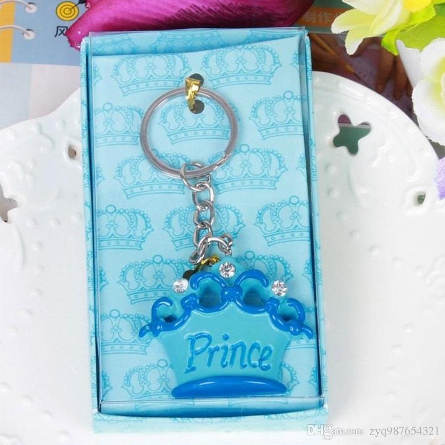 neue Sammlung der Großhandels/ rosafarbene Kronen-Prinzessin Keychains Hochzeits-Babyparty-Bevorzugungs-Geschenk-Schlüsselketten + Geschenkkastenhochzeitsgeschenk