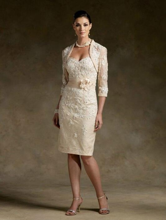 Gracefully Mother Of The Bride Dresses Matching Bolero Jacket And ...