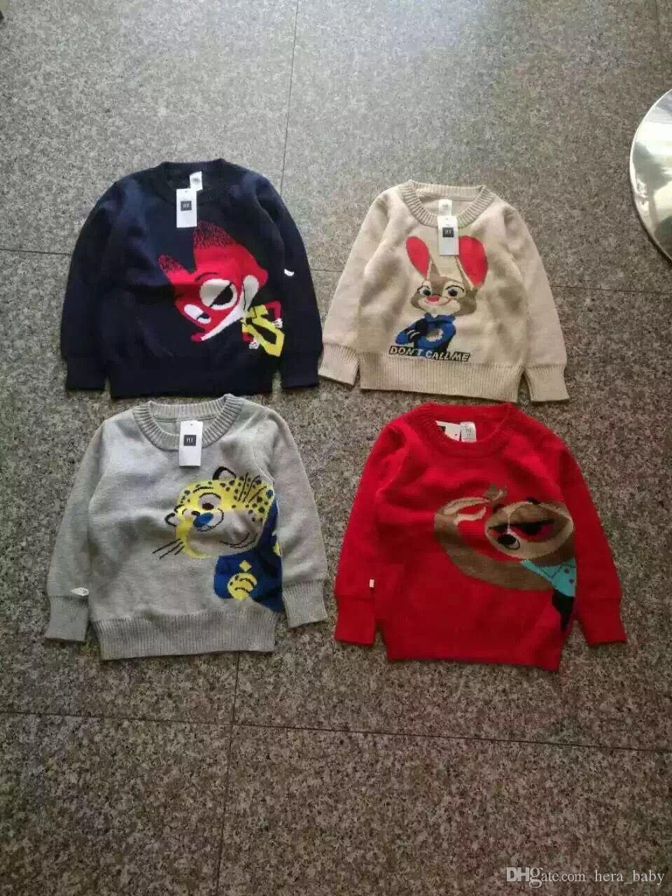 Christmas Sweater Coat Boys Zootopia Sweater Child Clothes Baby ...