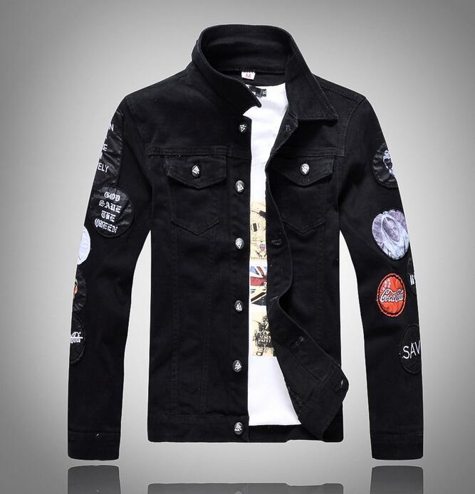 Wholesale- VXO Denim Jacket Men 2017 Fashion Long Sleeve Design ...