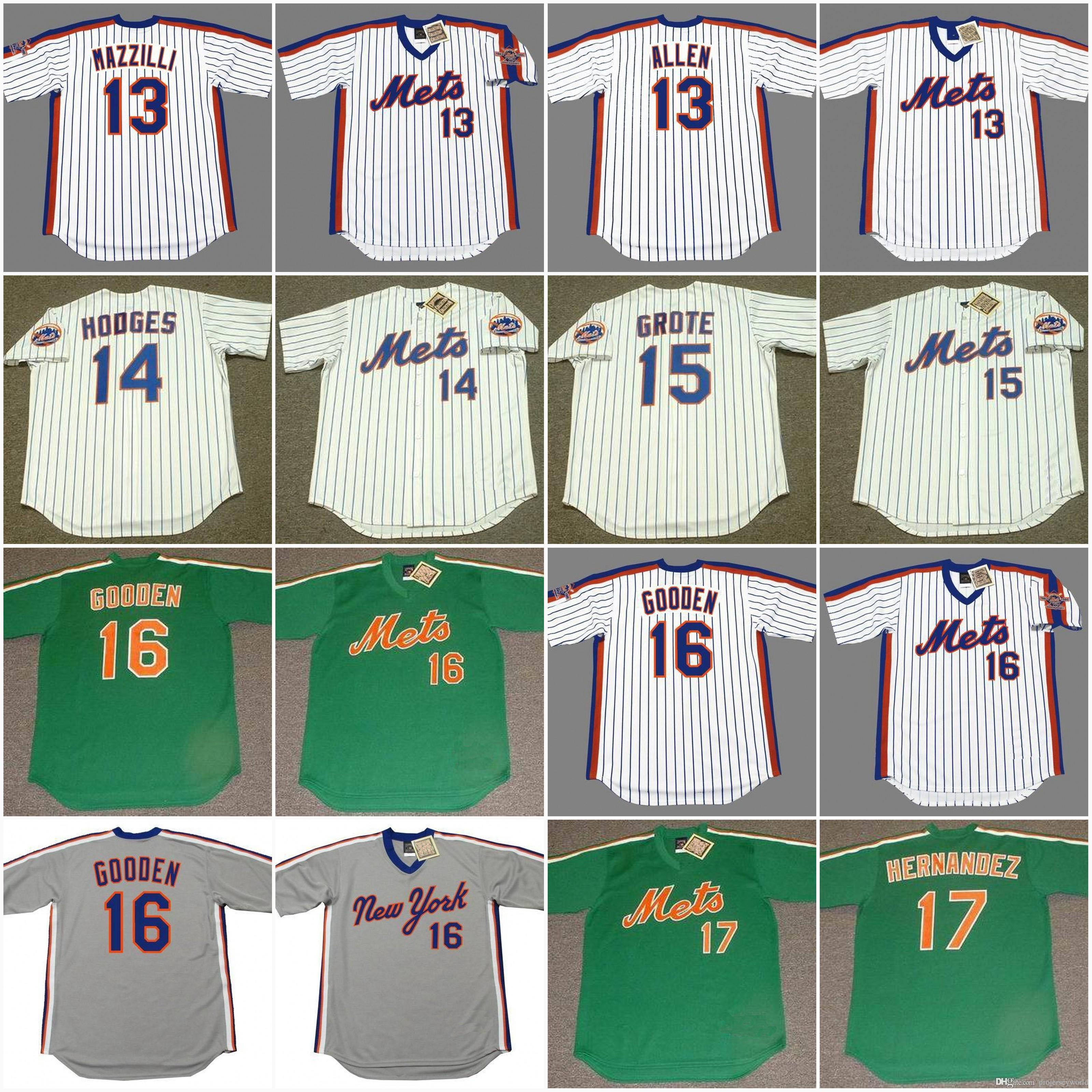 3c15f2e51a4 ... throwback jersey  16 dwight gooden 17 keith new york mets cooperstown  13 lee mazzilli 1986 13 neil allen