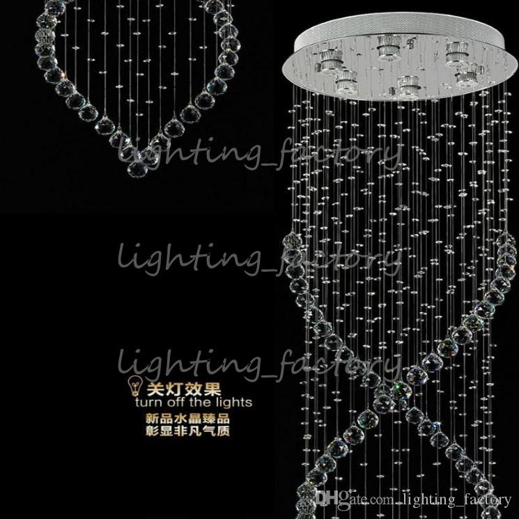 Factory Price Hot Cheap Modern Crystal Chandelier Light Fixture Crystal Light lustres for Ceiling Lamp Prompt Shipping 100% Guanrantee DHL