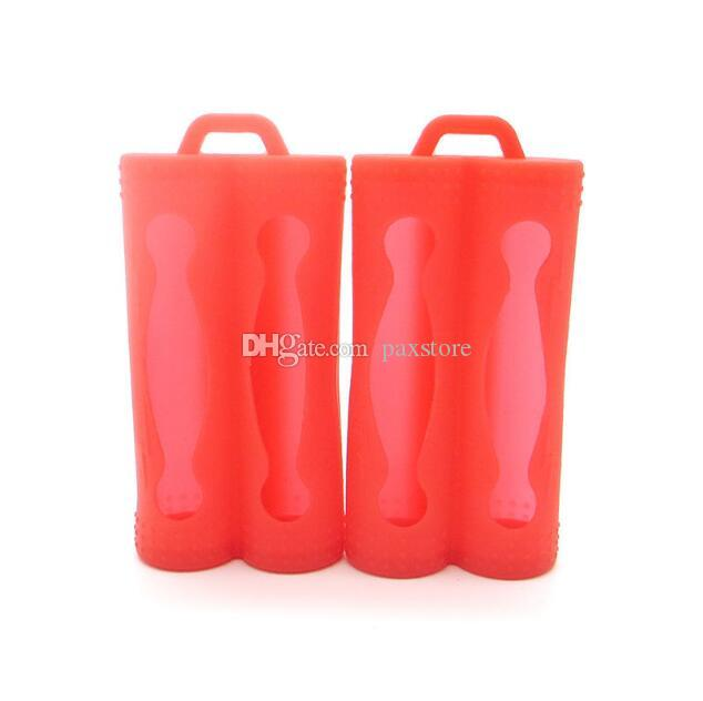 Newest 2*18650 Battery Silicone Case Protective Rubber Sleeve Cover Double 18650 Battery Contain Battery Case DHL Free