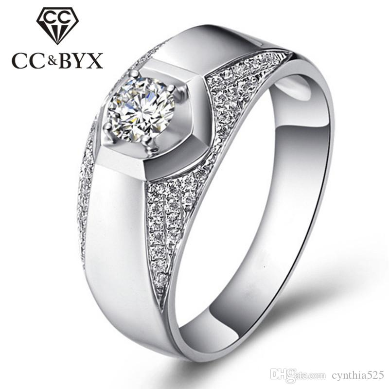 2018 Wholesale 925 Sterling Silver Mens Rings Fashion Jewelry Cz