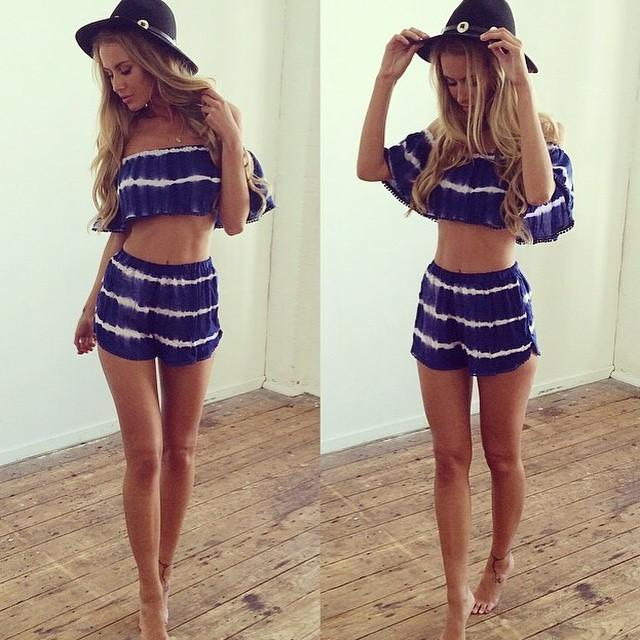 Heat Sell Sandy Beach Lace Printing Even Clothes Pantskirt Womens Short Romper Running Mini Plus Size European Style Xl Fashion