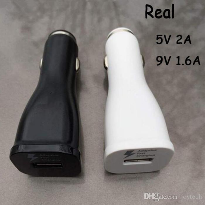 Cargador rápido solo cargador del coche USB rápido Adaptador de muelle de carga 5V 2a 9v 1.67a Cargador universal del coche para teléfonos inteligentes envío gratis