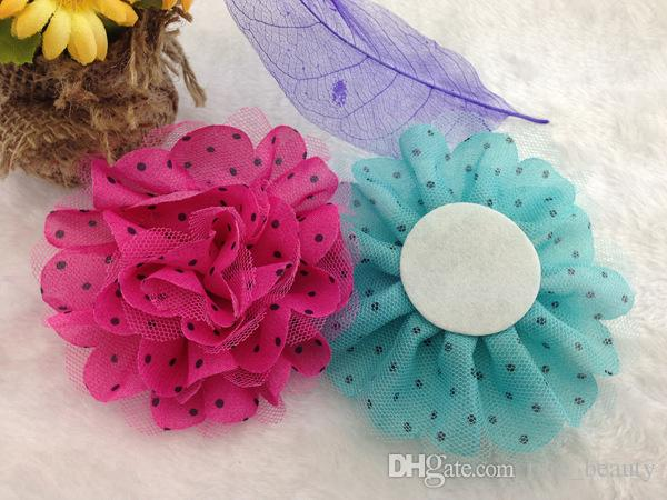 15% off! Baby Girls Satin Tulle Mesh Flowers for Headband hair accessories clothing shoes and hats accessories brooches accessories /