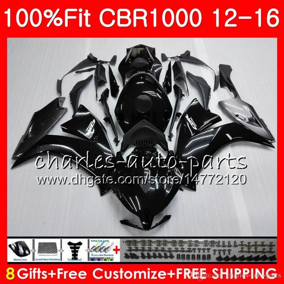 Injection Body For HONDA CBR 1000 RR CBR1000RR 12 13 Glossy black 14 15 16 88NO1 CBR 1000RR CBR1000 RR 2012 2013 2014 2015 2016 Fairing kit