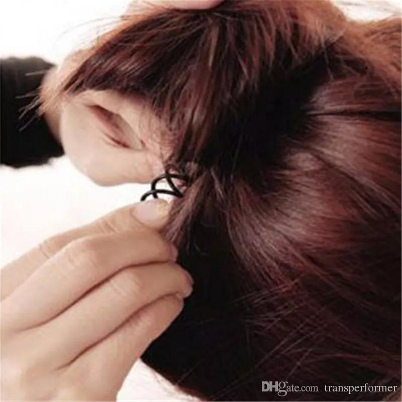 Spiral Spin Screw Pin Hair Clip Hairpin Twist Barrette Black Plate Made Tools B Magic Hair Scroo Bridal Hair Accessories 2017091003