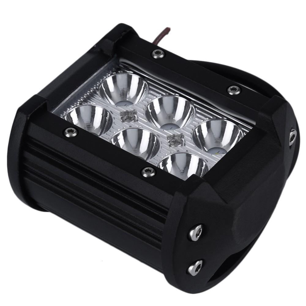 4 Zoll 18W 6 * 3W CREE LED Arbeits-Licht-Flut-Stellen-Licht nicht für den Straßenverkehr treibend LED-Licht-Stab 12V 24V 4x4 LKW-Motorrad-Boots-Traktor-Barra-Kampieren