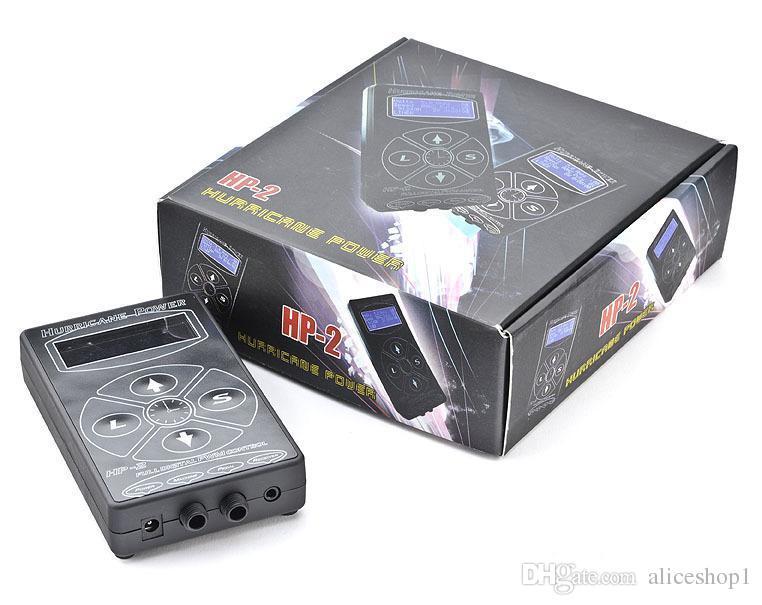 Atacado Hurricane HP-2 Black Tattoo Power Supply Digital Display LCD Para Máquina de Tatuagem Clipe Cabo de Tatuagem Kit Navio Livre