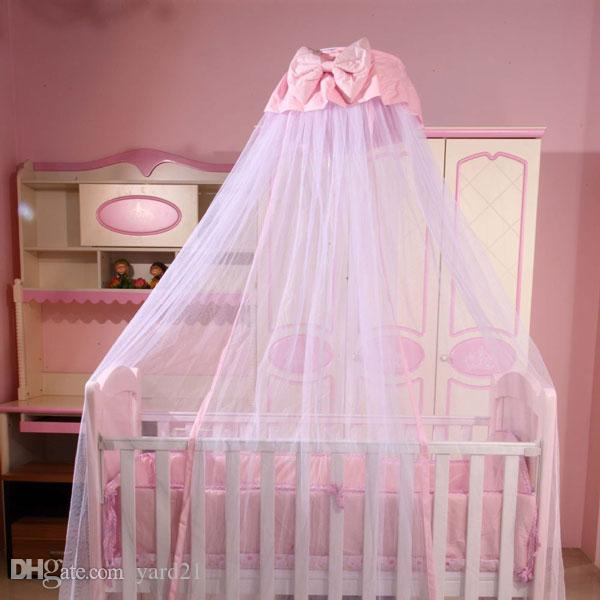 Baby Bed Crib Dome Canopy Netting For Boys Girls Princess Hanging Mosquito Net With Bowknot Decor For Bedroom Insect Protection Mesh Cover Mosquito Net ... & Baby Bed Crib Dome Canopy Netting For Boys Girls Princess Hanging ...