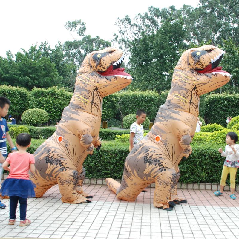 Outdoor Performance Wear aufblasbare T-Rex Dinosaurier verkleiden sich lustige Simulation Luxus Cosplay Kostüm Anzug