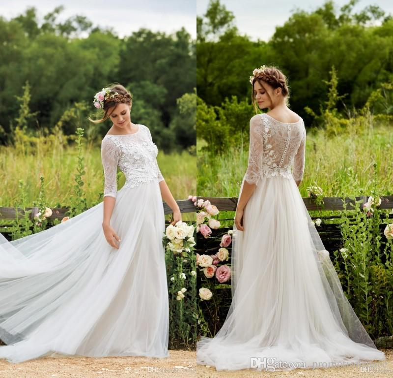 Discount Bhldn 2016 Modest Plus Size Wedding Dresses With