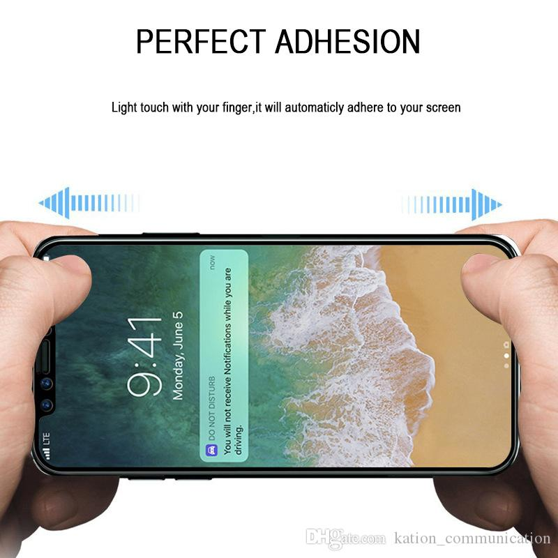 For IPhone X 8 8plus 3D 4D Full Cover Color Tempered Glass Soft Edge Screen Protector For IPhone8 7 Plus With Box Package