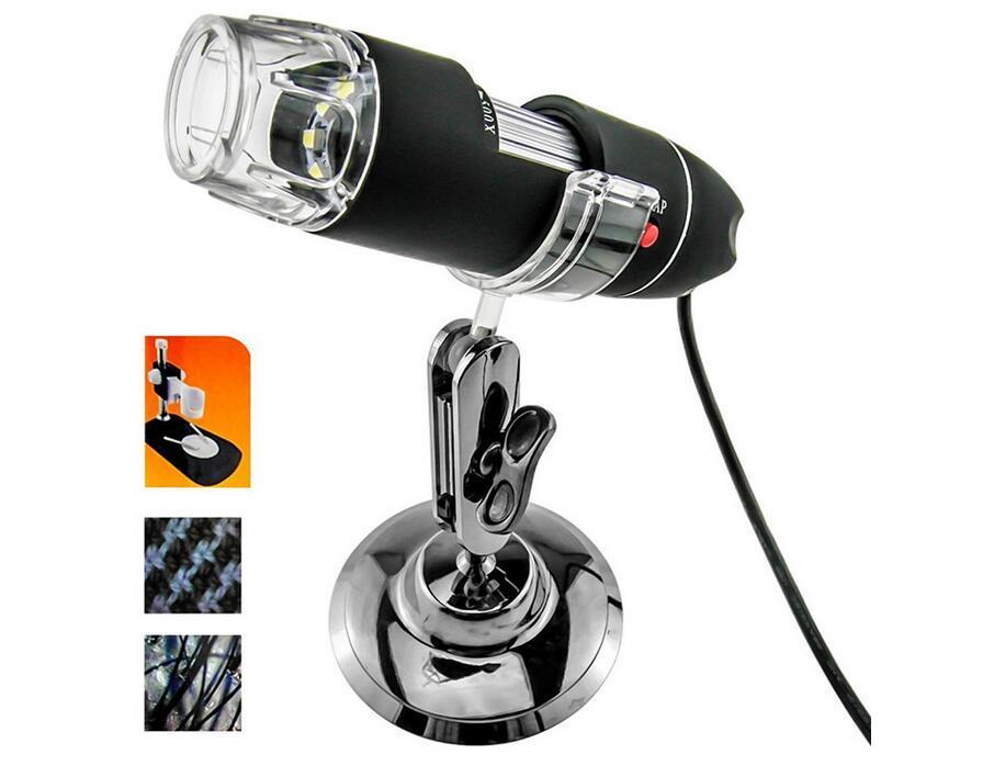 DHL Yeni 2MP 2 Mega Piksel 800X8 LED Ile 50X-500X 200X Dijital USB Mikroskop 8 LED Endoskop Büyüteç CMOS Kamera Kiti
