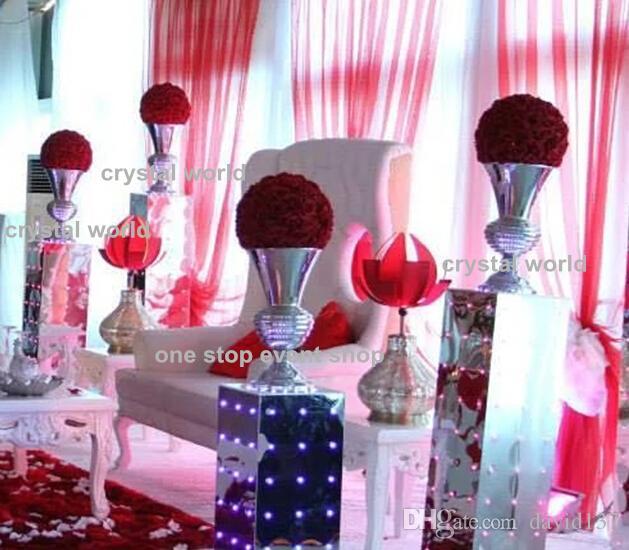 suporte de flor da tira Peças centrais do casamento da decoração da pena de avestruz