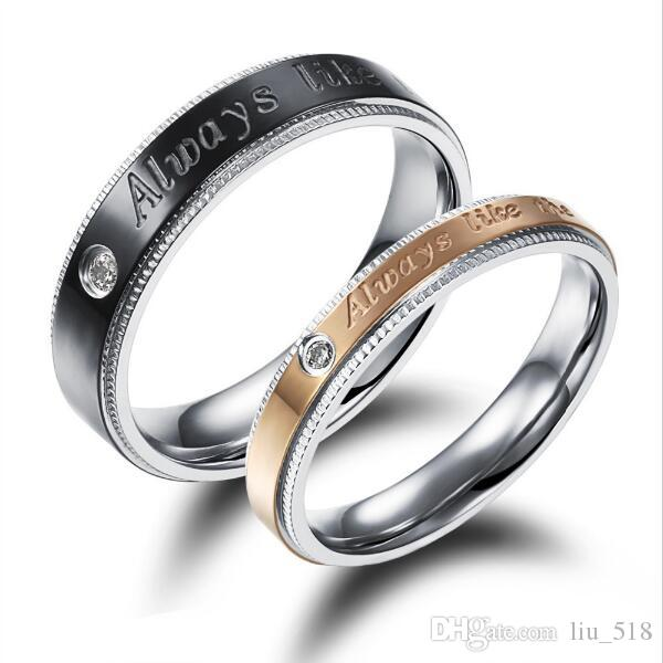Price Couple Wedding Party Rings Classical BlackGold Plated