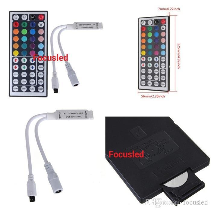 RGB-kit 5050 LED-remsor Ljus 5m 300LEDS Flexibelt LED-bandljus Vattentät + 44Keys IR-fjärrkontroll + 12V 6A Strömförsörjning