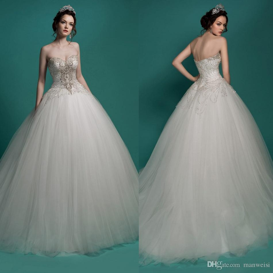 Milla Nova 2016 Ball Gown Wedding Dresses Beaded Sweetheart ...