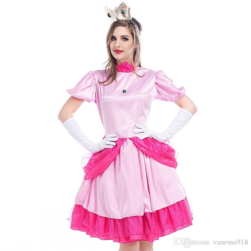 fbcd20331 Princess Rapunzel Halloween Sexy Women Adult Party Costume Cosplay Fancy  Dress Carnival Dress Pink Wholesale PS016 Halloween Themed Costumes For  Groups ...