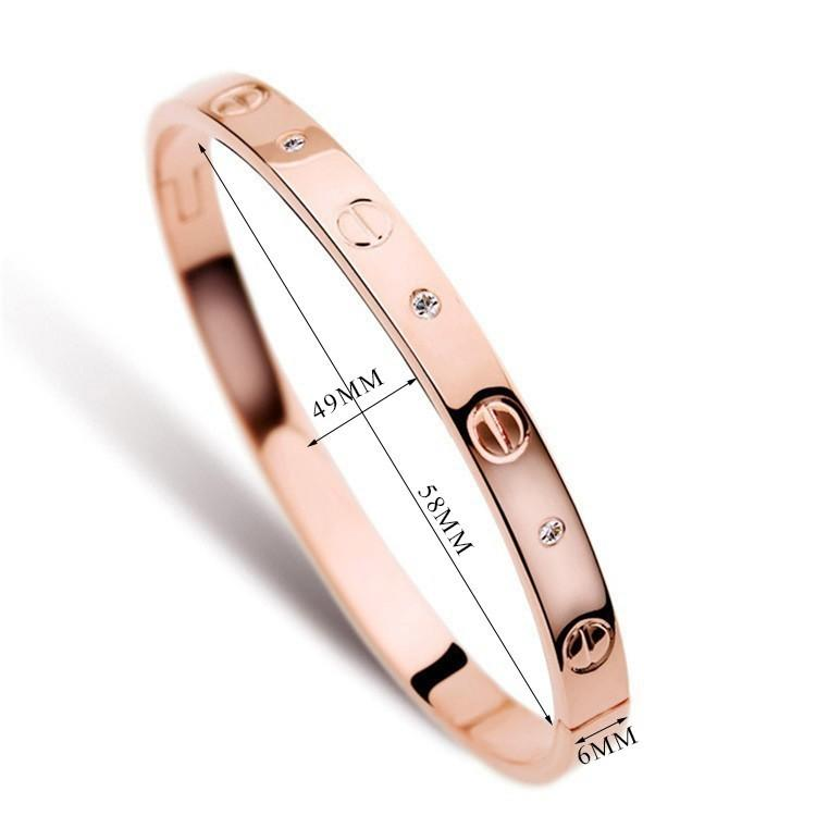 Big Brand New style fashion Design Oval Rose Gold Bangle set with flash CZ for men and women