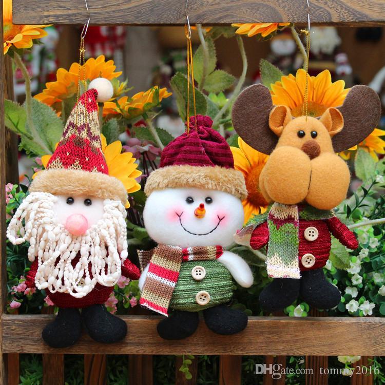 Decorações de natal criativo Papai Noel pingente de cervos de neve decorações de Natal presentes brinquedos das crianças