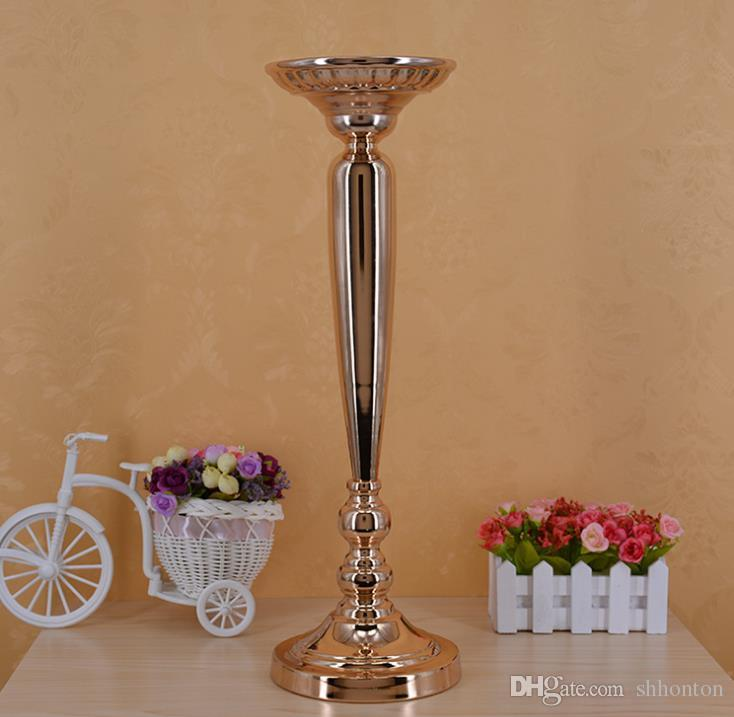 The wedding prop path table vase gold plating carrot column European style flower ware stage master WQ15