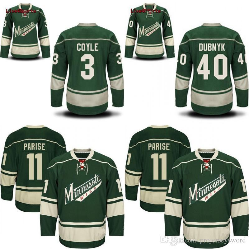 competitive price e4718 f8ff9 Minnesota Wild Jersey Men s 3 Charlie Coyle 11 Zach Parise 40 Devan Dubnyk  100% Stitched Embroidery Logos Hockey Jerseys Cheap Mix Order