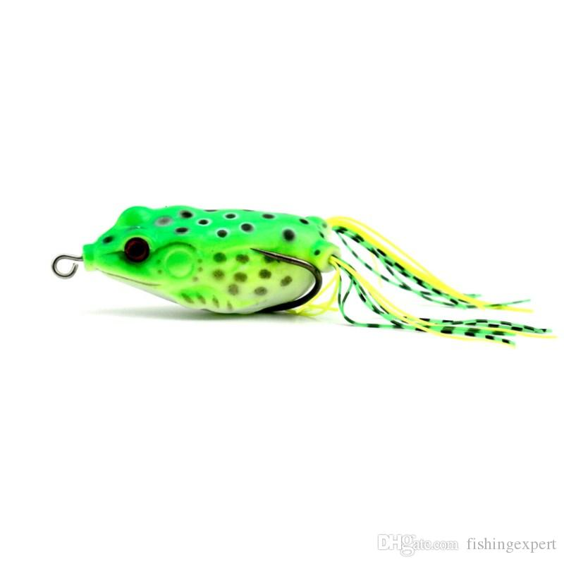 Box-packed Frog Lures Combo 18g Long Tail Frog Fish Fishing Baits 13cm Lifelike Soft Plastic Baits for Catch Snakehead