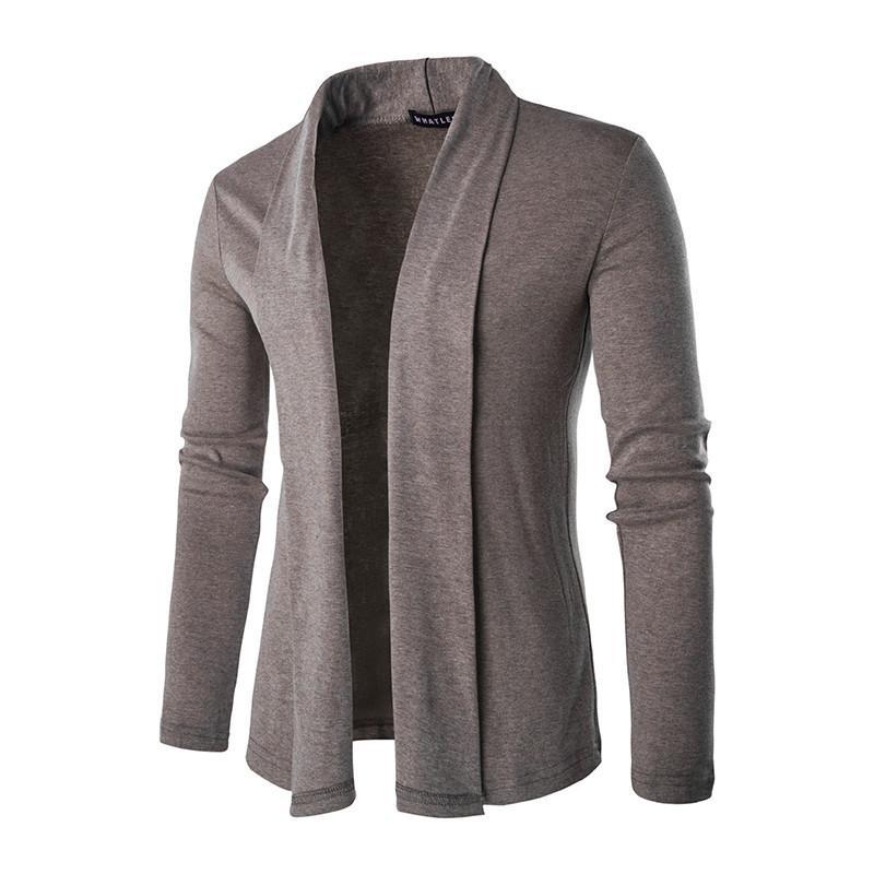 FGK 2017 Vente Chaude Marque-Vêtements Printemps Cardigan Mâle De Mode Unie Couleur Slim Chandail Hommes Casual Hommes Chandails