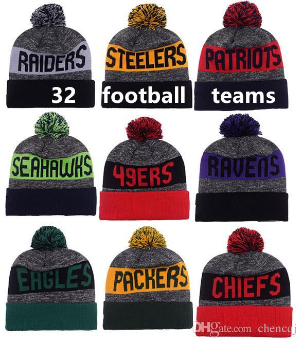 2016 New Beanies Hats American Football 32 Team Pom Sports Beanie ... 61a4af922