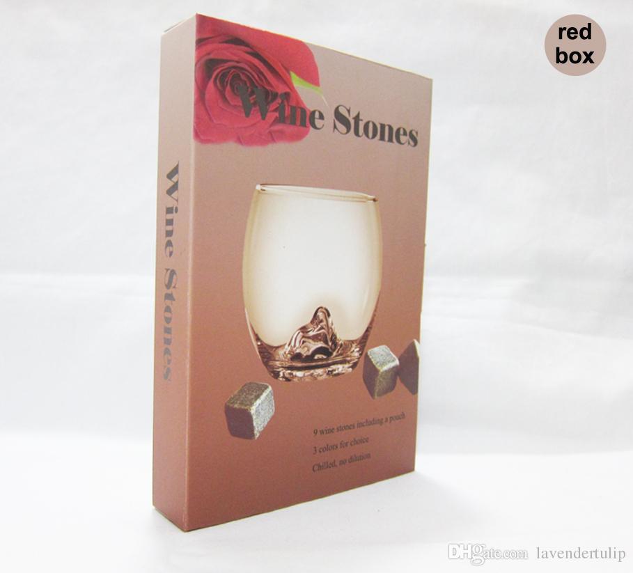 크리스마스 선물! 위스키 록스 / 섬세한 선물 상자 + 벨벳 가방 세트 위스키의 돌 웨딩 장식