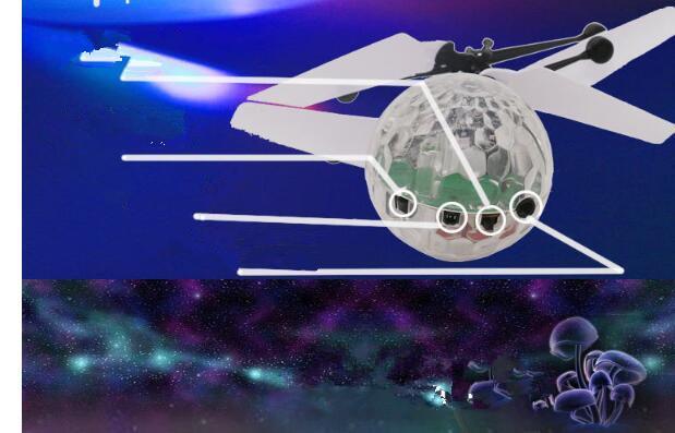 لعب روتردام هليكوبتر الكرة تحلق التعريفي noctilucent الكرة quadcopter الطائرة بدون طيار الاستشعار تعليق التحكم عن طائرات للأطفال هدية عيد
