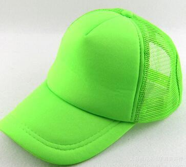 NEON fluorescent Mesh uni blanc casquette chapeau baseball de camionneur 6 casquette de baseball de couleur fluorescente couleur de tache de couleur casquette mâle adulte chapeau de soleil Mme